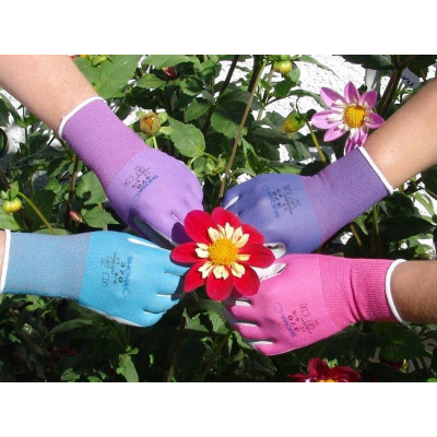 Garden Gloves-Showa Medium  Light Blue